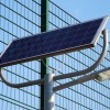 Solar panel for security